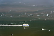 Nederland, Friesland, Waddenzee, 05-08-2014; veerboot Vlieland van het waddeneiland Vlieland onderweg naar Harlingen.\Waddensea, ferry.<br /> luchtfoto (toeslag op standard tarieven);<br /> aerial photo (additional fee required);<br /> copyright foto/photo Siebe Swart