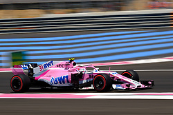 June 22, 2018 - Le Castellet, Var, France - Force India 31 Driver ESTEBAN OCON (FRA) in action during the Formula one French Grand Prix at the Paul Ricard circuit at Le Castellet - France (Credit Image: © Pierre Stevenin via ZUMA Wire)