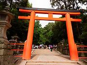 Torii Gate entrance to the Kasuga Taisha Shrine and the Kasugayama Primeval Forest