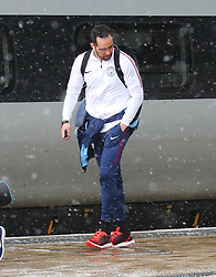 Claudio Bravo and The Manchester City team are seen at Manchester Piccadilly Train Station on Thursday morning as they make their trip to London to face Arsenal in the premier league