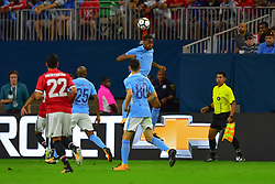 Manchester City forward Gabriel Jesus (33) during play a the International Champions Cup match between Manchester United and Manchester City at NRG Stadium in Houston, Texas