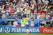 Roberto Firmino of Brazil celebrates after his goal during the 2018 FIFA World Cup Russia, round of 16 football match between Brazil and Mexico on July 2, 2018 at Samara Arena in Samara, Russia - Photo Thiago Bernardes / FramePhoto / ProSportsImages / DPPI