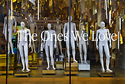 Naked mannequins standing in Topshop, one of the many closures on Oxford Street, on 3rd March 2021, in London, United Kingdom. The streets reputation as Europe's premier shopping destination now faces its biggest threat in decades. A flood of store closures and deterioration in the quality of the buildings and public space along the near two-kilometer thoroughfare is being aggravated by lockdown restrictions that are decimating foot traffic and driving more shoppers online away from the the capitals West End during the third lockdown of the Coronavirus pandemic.