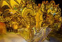 Floats in the Carnaval parade of GRES Unidos do Viradouro samba school in the Sambadrome, Rio de Janeiro, Brazil.