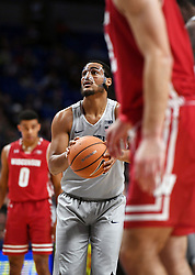 December 4, 2017 - University Park, PA, USA - Penn State guard Shep Garner takes a free throw during a game against Wisconsin on Monday, Dec. 4, 2017 at the Bryce Jordan Center in University Park, Pa. (Credit Image: © Phoebe Sheehan/TNS via ZUMA Wire)