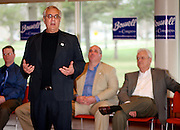 Barney Frank speaks during a rally for Leonard Boswell during his campaign for election in the JRC on Sunday.