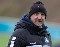 Cheftræner Auri Skarbalius (HB Køge) under træningskampen mellem FC Helsingør og HB Køge den 22. februar 2020 på Helsingør Ny Stadion (Foto: Claus Birch).