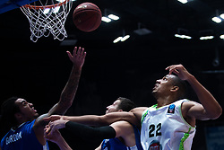 November 8, 2017 - Saint Petersburg, Russia - Drew Gordon of Zenit St. Petersburg (L) and Josh Owens of Tofas Bursa vie for the ball during the EuroCup Round 5 regular season basketball match between Zenit St. Petersburg and Tofas Bursa at the Yubileyny Sports Palace in St. Petersburg, Russia, November 08, 2017. (Credit Image: © Igor Russak/NurPhoto via ZUMA Press)