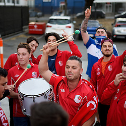 BRISBANE, AUSTRALIA - SEPTEMBER 15:  during the NPL Queensland Senior Mens Grand Final match between Gold Coast Knights and Olympic FC at Perry Park on September 15, 2019 in Brisbane, Australia. (Photo by Patrick Kearney)