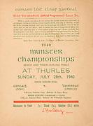 Munster Senior and Minor Hurling Championship Final, held at Croke Park, Dublin, Ireland..07281940MSMHF.28.07.1940, 07.28.1940, 28th July 1940, ..Senior Cork v Limerick.Minior Limerick v Clare.