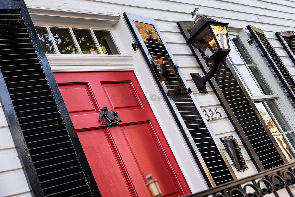Townhouse in historic Old Town, Alexandria, Virginia, USA