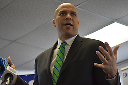 February 5, 2018 - New York, New York, United States - Senator Cory Booker speaks at the Democratic Committee of Bergen County in Hackensack, NJ on February 5, 2018  (Credit Image: © Kyle Mazza/NurPhoto via ZUMA Press)