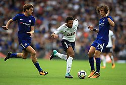 """Tottenham Hotspur's Mousa Dembele on the ball during the Premier League match at Wembley Stadium, London. PRESS ASSOCIATION Photo. Picture date: Sunday August 20, 2017. See PA story SOCCER Tottenham. Photo credit should read: Mike Egerton/PA Wire. RESTRICTIONS: EDITORIAL USE ONLY No use with unauthorised audio, video, data, fixture lists, club/league logos or """"live"""" services. Online in-match use limited to 75 images, no video emulation. No use in betting, games or single club/league/player publications."""