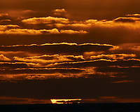 Sun setting over the Pacific Ocean from the deck of the MV World Odyssey. Semester at Sea, 2016 Spring Semester Voyage. Day 2 of 102. Image taken with a Nikon 1 V3 camera and 70-300 mm VR lens (ISO 200, 200 mm, f/16, 1/200 sec).