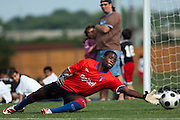 Apr 3, 2011; San Antonio, TX, USA; Haitian soccer team practices at STAR soccer Complex for the Caribbean Cup.