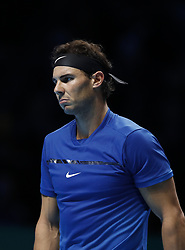 2017?11?13?.    ?????1???——ATP???????????Goffin.       11?13??????????.       ???????????ATP????????????????????????????1?2???????Goffin?.       ????????.(SP) BRITAIN-LONDON-TENNIS-ATP FINALS-NADAL VS GOFFIN.(171113) -- LONDON, Nov. 13, 2017  Rafael Nadal of Spain competes during the singles group match against David Goffin of Belgium during the Nitto ATP World Tour Finals at O2 Arena in London, Britain on Nov. 13, 2017. Rafael Nadal lost 1-2. (Credit Image: © Han Yan/Xinhua via ZUMA Wire)