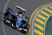 NASR felipe (bra) sauber f1 c34 action during 2015 Formula 1 championship at Melbourne, Australia Grand Prix, from March 13th to 15th. Photo DPPI / Eric Vargiolu.