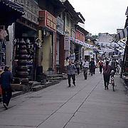 China, Cities, Street scene in city of Shexian.