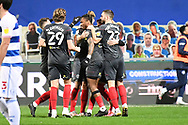 GOAL Brentford Forward Ivan Toney(17) scores a goal 0-1 and celebrates  during the EFL Sky Bet Championship match between Queens Park Rangers and Brentford at the Kiyan Prince Foundation Stadium, London, England on 17 February 2021.