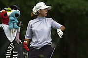 2001 Weetabix Women's British Open, Sunningdale Golf Course, Berks, Great Britain<br />  <br /> [Mandatory Credit Peter Spurrier/Intersport Images]<br /> <br /> Friday 3rd August 2001<br /> Korea's, Mi Hyun Kim, tee's of the 13th.