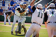 SAVANNAH, GA - May 25, 2017: The North Hall Trojans play the Pierce County Bear during the second game of the Class 3-A Georgia High School Association State Baseball Championship, Thursday, May 25, 2017, at Grayson Stadium in Savannah, Ga. The Trojans beat the Bears 6-5 to win the championship. (Photo by Stephen B. Morton)
