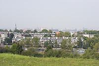 Panorama of Krakow viewed from the Krakus Mound in Podgorze Krakow Poland