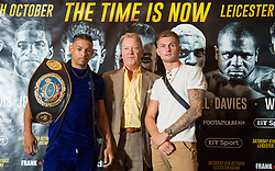 Promoter Frank Warren (centre) with Lyon Woodstock (left) and Archie Sharp during a press conference at the Landmark Hotel, London, ahead of 'The Time is Now' on October 6th in Leicester.