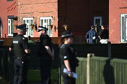 Police activity at an address in Elsmore Road, Greater Manchester, after a suicide bomber killed 22 people leaving a pop concert at the Manchester Arena on Monday night.