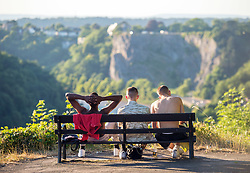 © Licensed to London News Pictures.  29/06/2018; Bristol, UK. People enjoy the evening sunshine by the Avon Gorge and Clifton Suspension Bridge. Photo credit: Simon Chapman/LNP