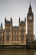 Big Ben and the Palace of Westminster, also known as the Houses of Parliament or Westminster Palace.  The meeting place of the two houses of the Parliament of the United Kingdom and is situated on the bank of the river Thames in Westminster, London.