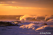 breaking surf at sunrise, Mkambati, the Wild Coast, Transkei, South Africa ( Western Indian Ocean )