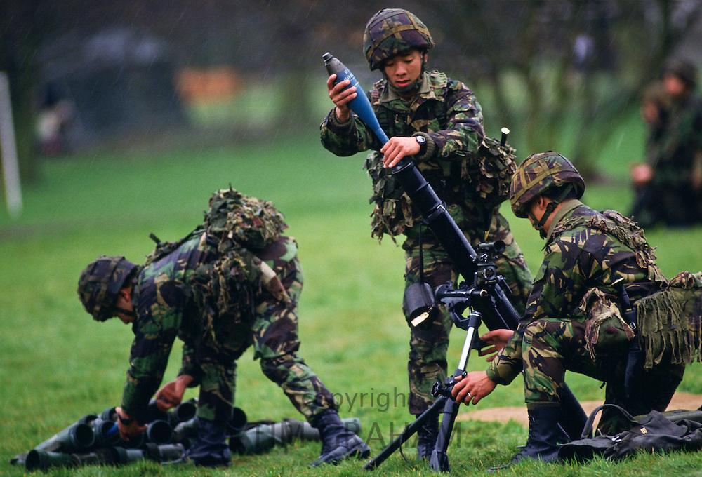 Gurkha soldiers, Crookham, Hampshire, United Kingdom.