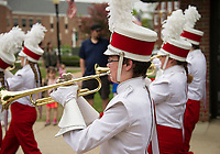 The Laconia High School marching band during Monday's Memorial Day parade through downtown Main Street.  (Karen Bobotas/for the Laconia Daily Sun)