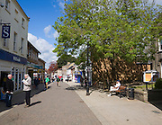 People in the main shopping street in Thetford, Norfolk, England