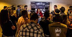 August 15, 2017 - Cris Cyborg campeã da categoria Peso-Pena do UFC, fala para imprensa no Rio de Janeiro. (Credit Image: © Rapha Silva/Fotoarena via ZUMA Press)