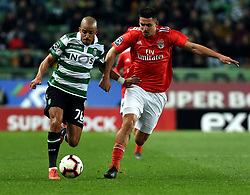 LISBON, Feb. 4, 2019  Bruno Gaspar (L) of Sporting vies with Gabriel of Benfica during the Portuguese League soccer match between SL Benfica and Sporting CP in Lisbon, Portugal, Feb. 3, 2019. Benfica won 4-2. (Credit Image: © Xinhua via ZUMA Wire)