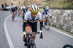 Trixi Worrack (CANYON//SRAM Racing) makes her way to the front before setting a fierce pace on the early climbs - Strade Bianche Elite Women 2016