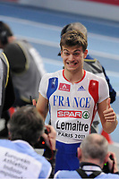 ATHLETICS - INDOOR EUROPEAN CHAMPIONSHIPS PARIS-BERCY 2011 - FRANCE - DAY 2 - 05/03/2011 - PHOTO : JEAN-MARIE HERVIO / DPPI - <br /> MEN'S 60 M - SEMIFINALE - CHRISTOPHE LEMAITRE (FRA)