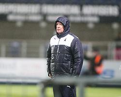 Falkirk's manager Peter Houston. <br /> Falkirk 1 v 0 Dumbarton, Scottish Championship game played 26/12/2015 at The Falkirk Stadium.