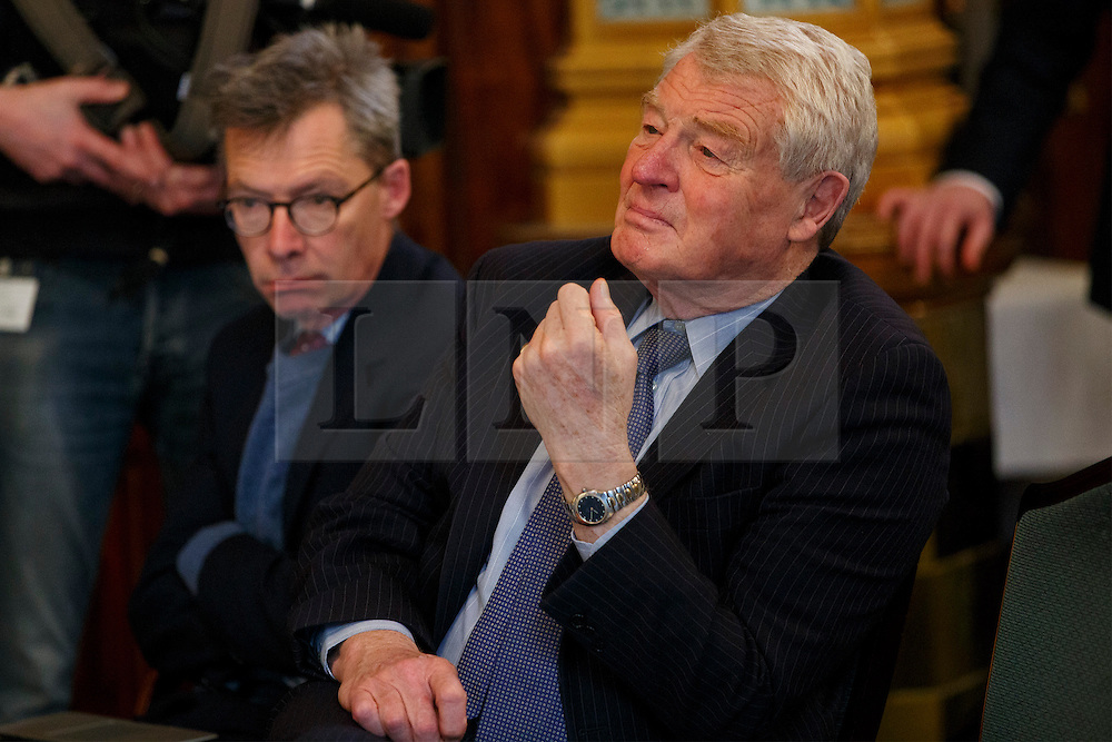 © Licensed to London News Pictures. 07/04/2015. LONDON, UK. Paddy Ashdown at a Liberal Democrat press conference at National Liberal Club in London on Monday, 7 April 2015. Photo credit : Tolga Akmen/LNP