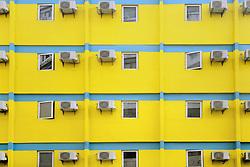 November 3, 2018 - Shenzhen, Shenzhen, China - Shenzhen,CHINA-Exterior of the Quchuang Hotel in Shenzhen. Colorful buildings can be seen in south China's Shenzhen. (Credit Image: © SIPA Asia via ZUMA Wire)