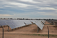 Solar farm just outside of Carslbad New Mexico in the Permian Basin.
