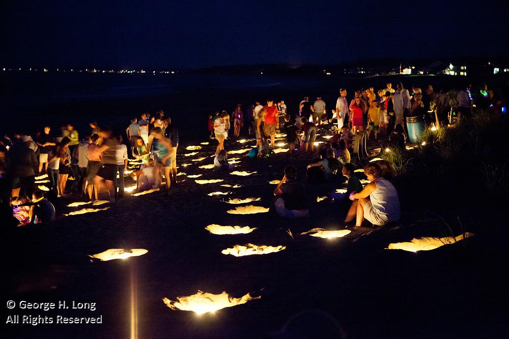 Illumination Night on the beach in Ocean Park, Maine