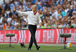 Arsenal manager Arsene Wenger gestures on the touchline during the Emirates FA Cup Final at Wembley Stadium, London.