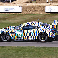 #97 Aston Martin V8 Vantage GTE at the Goodwood FOS on 28 June 2015