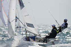 03.08.2012, Bucht von Weymouth, GBR, Olympia 2012, Segeln, im Bild CHO SungMin, Park Gunwoo, (KOR, 470 Men) // during Sailing, at the 2012 Summer Olympics at Bay of Weymouth, United Kingdom on 2012/08/03. EXPA Pictures © 2012, PhotoCredit: EXPA/ Juerg Kaufmann ***** ATTENTION for AUT, CRO, GER, FIN, NOR, NED, POL, SLO and SWE ONLY!