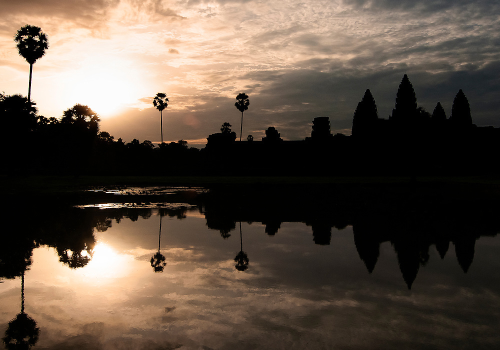 Sunrise over Angkor Wat (City of Temples), the ancient Capital of the Khmer Empire in Cambodia.<br /> <br /> Photo: Steve Kingsman