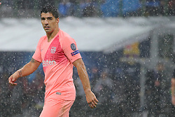 November 6, 2018 - Milan, Milan, Italy - Luis Suárez #9 of FC Barcelona during  the UEFA Champions League group B match between FC Internazionale and FC Barcelona at Stadio Giuseppe Meazza on November 06, 2018 in Milan, Italy. (Credit Image: © Giuseppe Cottini/NurPhoto via ZUMA Press)