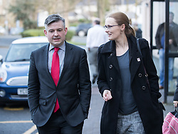 © Licensed to London News Pictures. 26/01/2018. Lancaster, UK. Shadow Health Secretary JONATHAN ASHWORTH MP and Lancaster and Fleetwood MP CAT SMITH visit Lancaster Royal Infirmary and tour Accident and Emergency and the wards on a day when the A&E department at the hospital was at 100% of capacity with no spare cubicles . Labour say the NHS is in crisis in the North West with patients waiting in ambulances outside hospitals for over an hour and hospitals running out of beds. Photo credit: Joel Goodman/LNP