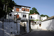 Pelion or Pelium is a mountain and district at the southeastern part of Thessaly in central Greece, forming a hook-like peninsula between the Pagasetic Gulf and the Aegean Sea. <br /> <br /> On the photo:  Zagora is the biggest village of Mt. Pelion was at its commercial and cultural peak in the 8th and 7th centuries B.C.E, It is the birth place of Yannis Kordatos, a distinguished Greek historian. There are texts dating back to the Byzantine era . Zagora. The library of Zagora with thousands of rare books is of great interest.